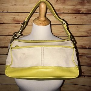 Coach Bags - Coach Lime Green Legacy Canvas Satchel